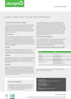 The Accoya Quick Guide